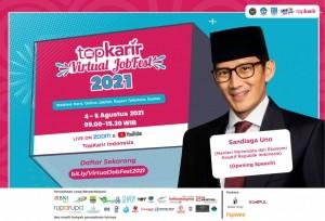 TopKarir Virtual Jobfest 2021 Dibuka Dengan Konsep 3G oleh Menparekraf Republik Indonesia | TopKarir.com